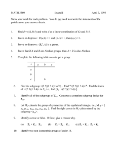 MATH 3360 Exam II April 3, 1995