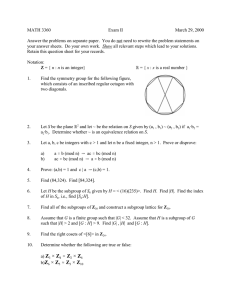 MATH 3360 Exam II March 29, 2000