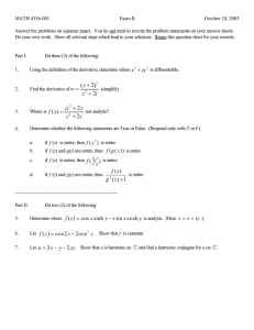 MATH 4356-001 Exam II October 24, 2003