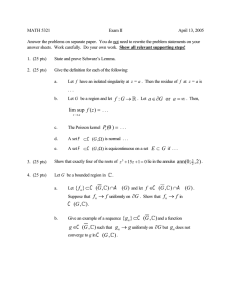 MATH 5321 Exam II April 13, 2005