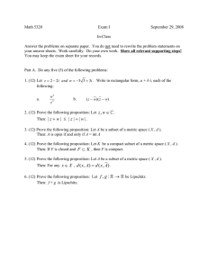 Math 5320 Exam I September 29, 2008 In-Class