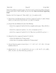 Math 5321 Exam II 14 Apr 2014