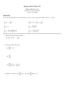 Spring 2012 Math 151 Section 6.1
