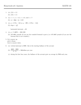 Homework #1 Answers MATH 131