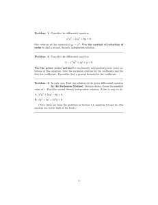 Problem 1. Consider the differential equation − 5xy x y