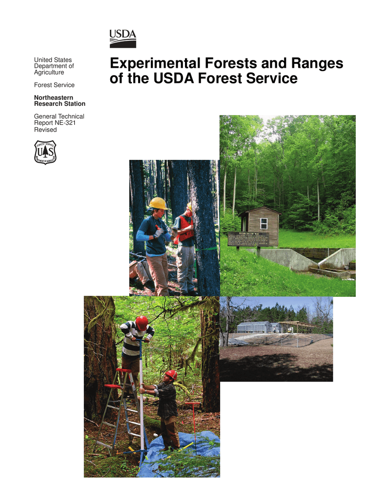 e5ba62161ff Experimental Forests and Ranges of the USDA Forest Service United States  Department of