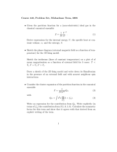 Course 443, Problem Set, Michaelmas Term, 2005
