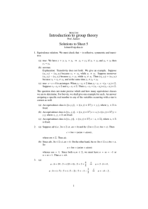 Introduction to group theory Solutions to Sheet 5