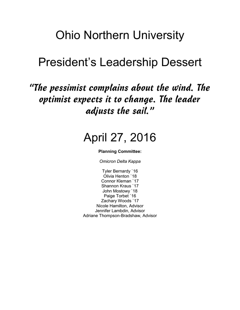 """083b37f6b1 The optimist expects it to change. The leader adjusts the sail."""" April 27"""