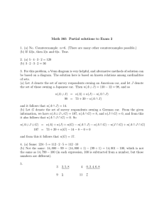 Math 365 Partial solutions to Exam 2