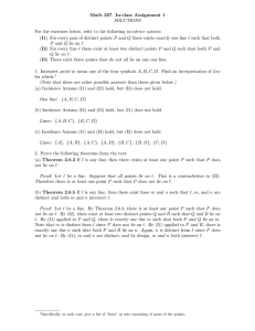 Math 367 In-class Assignment 1 SOLUTIONS