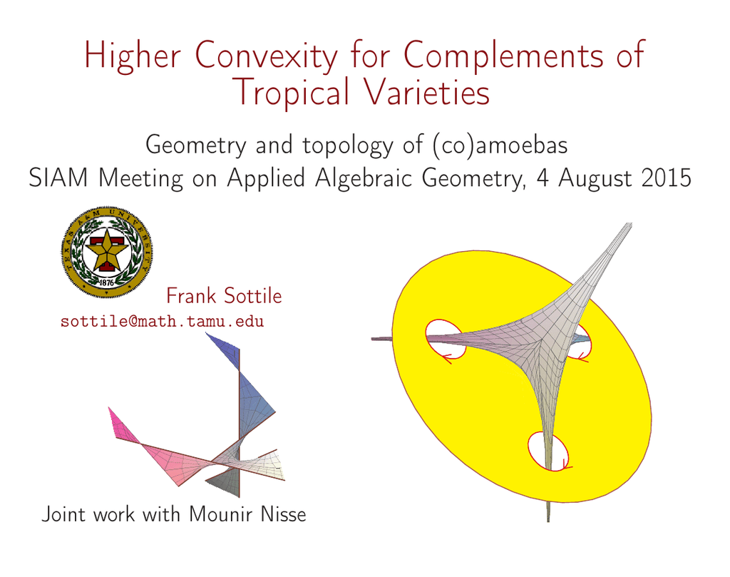 Higher Convexity for Complements of Tropical Varieties Geometry and
