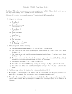 "Math 152 ""FREE"" Final Exam Review"