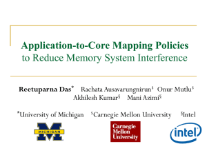 Application-to-Core Mapping Policies to Reduce Memory System Interference