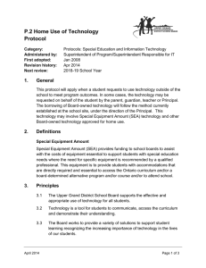 P.2 Home Use of Technology Protocol