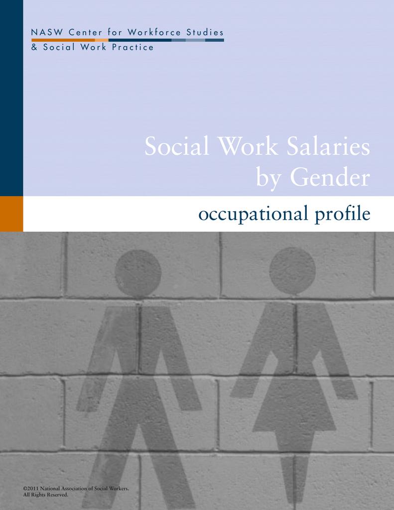 Social Work Salaries By Gender Occupational Profile
