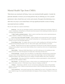 Mental Health Tips from CMHA