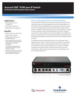 Emerson Avocent MPU2016DAC KVM Over IP Switch Driver PC