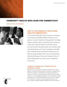 COMMUNITY HEALTH DATA SCAN FOR CONNECTICUT