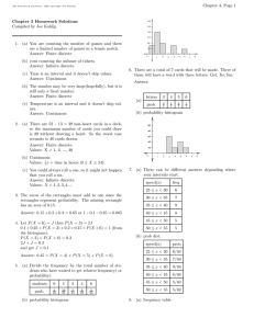 Chapter 3, Page 1 Chapter 3 Homework Solutions Compiled by Joe Kahlig