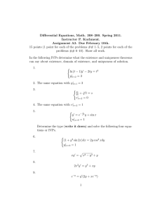 Differential Equations, Math. 308–200. Spring 2011. Instructor P. Kuchment.