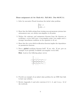 Home assignment #1 for Math 611. Fall 2011. Due 09/07/11.