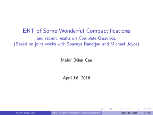 EKT of Some Wonderful Compactifications