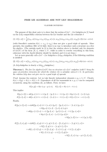 FREE LIE ALGEBRAS ARE NOT LILY BIALGEBRAS