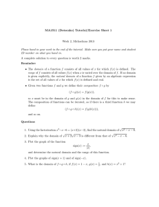 MA1S11 (Dotsenko) Tutorial/Exercise Sheet 1 Week 2, Michaelmas 2013