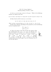 MA 1111: Linear Algebra I Tutorial problems, October 7, 2015