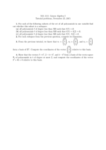 MA 1111: Linear Algebra I Tutorial problems, November 25, 2015