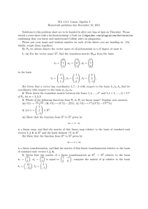 MA 1111: Linear Algebra I Homework problems due December 10, 2015