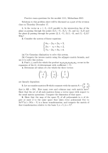 Practice exam questions for the module 1111, Michaelmas 2015
