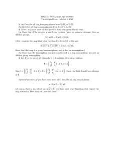 MA2215: Fields, rings, and modules Tutorial problems, October 4, 2012