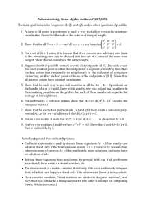 Problem solving: linear algebra methods (29