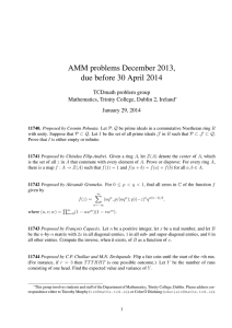 AMM problems December 2013, due before 30 April 2014 TCDmath problem group