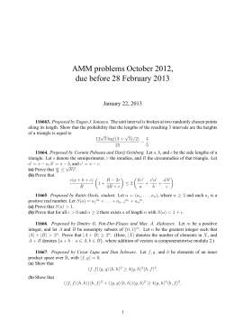 AMM problems October 2012, due before 28 February 2013 January 22, 2013