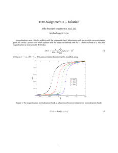 3469 Assignment 4 — Solution Mike Peardon () Michaelmas 2015-16