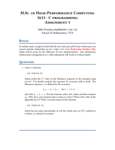 M.Sc. in High-Performance Computing 5613 - C programming Assignment 1 Rules