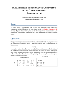 M.Sc. in High-Performance Computing 5613 - C programming Assignment 6 Rules