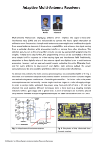 Adaptive Multi‐Antenna Receivers