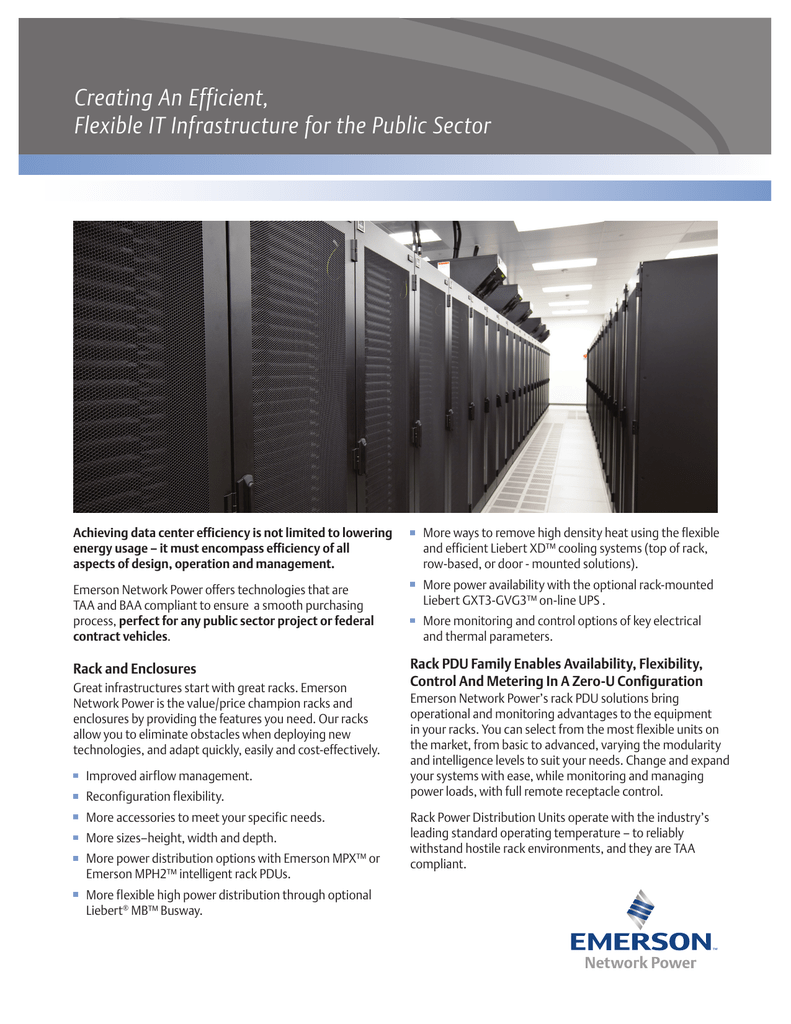 Creating An Efficient, Flexible IT Infrastructure for the