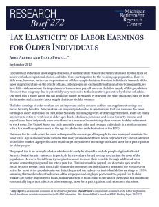 Tax Elasticity of Labor Earnings for Older Individuals