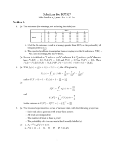 Solutions for BU7527 Section A
