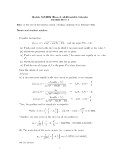 Module MA2E02 (Frolov), Multivariable Calculus Tutorial Sheet 3