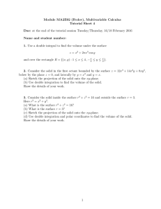 Module MA2E02 (Frolov), Multivariable Calculus Tutorial Sheet 4