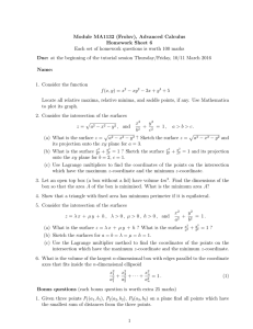 Module MA1132 (Frolov), Advanced Calculus Homework Sheet 6