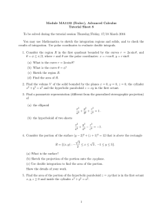 Module MA1132 (Frolov), Advanced Calculus Tutorial Sheet 8