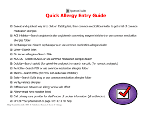Quick Allergy Entry Guide