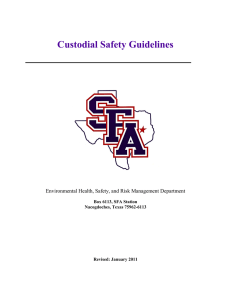 Custodial Safety Guidelines Environmental Health, Safety, and Risk Management Department